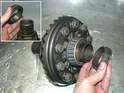 New bearings need to be pressed on in a similar manner.
