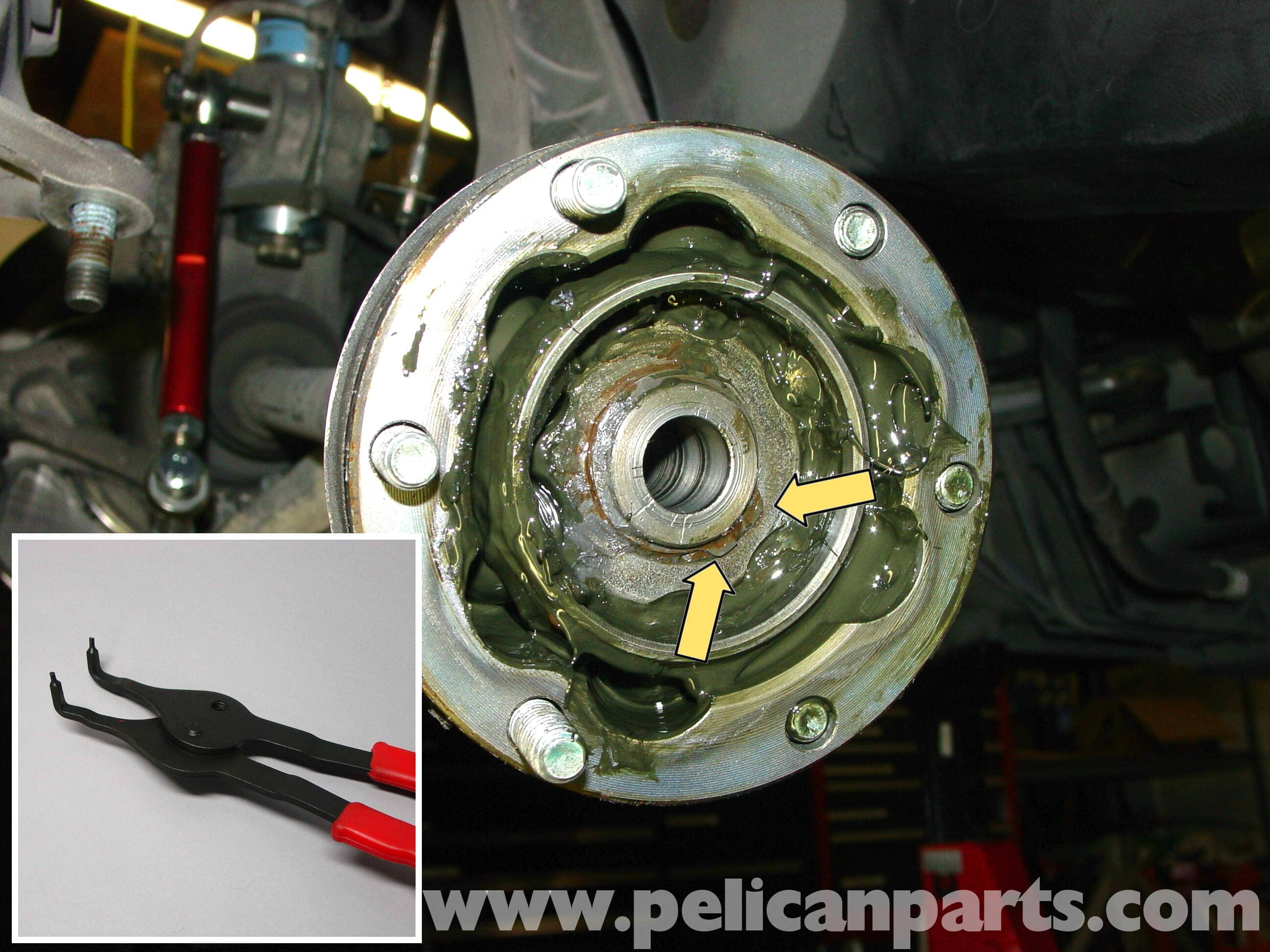 porsche 911 carrera cv joint replacement
