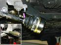 The four CV joints are located in the rear of the car, attached to both the transmission flanges and the stub axles on the trailing arms.