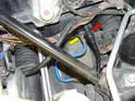 In the front trunk, under the plastic cover you will find the clutch master cylinder.