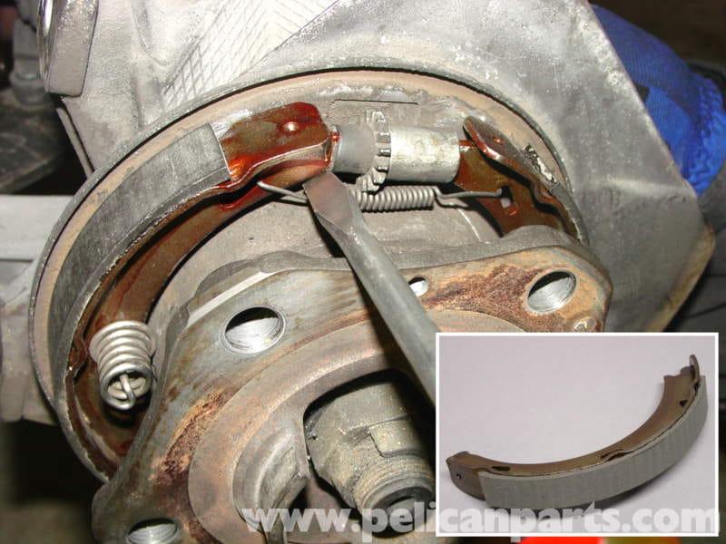 Porsche 911 Carrera Parking Brake Shoe Replacement 996
