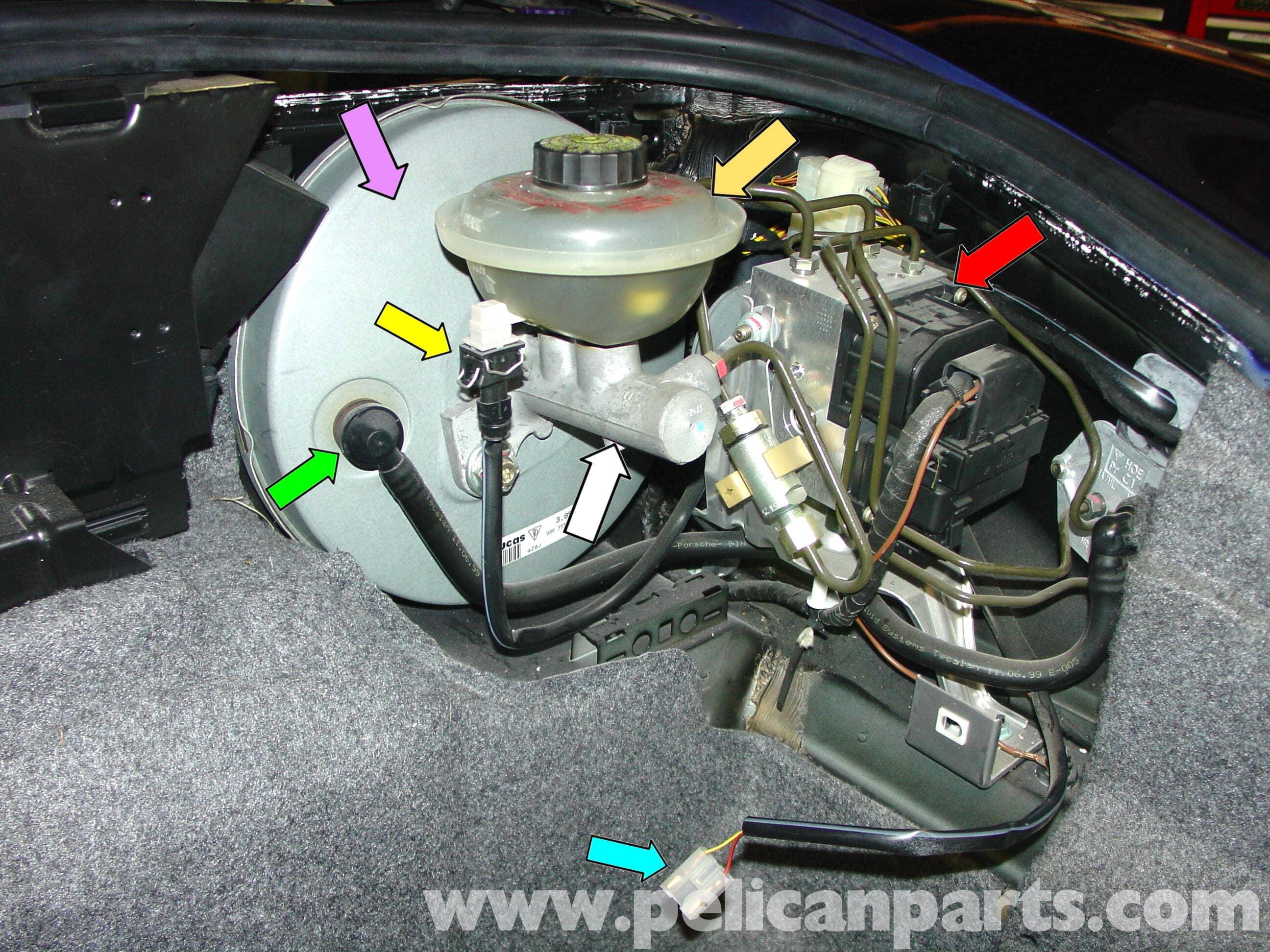 Porsche 911 Carrera Master Cylinder Replacement 996