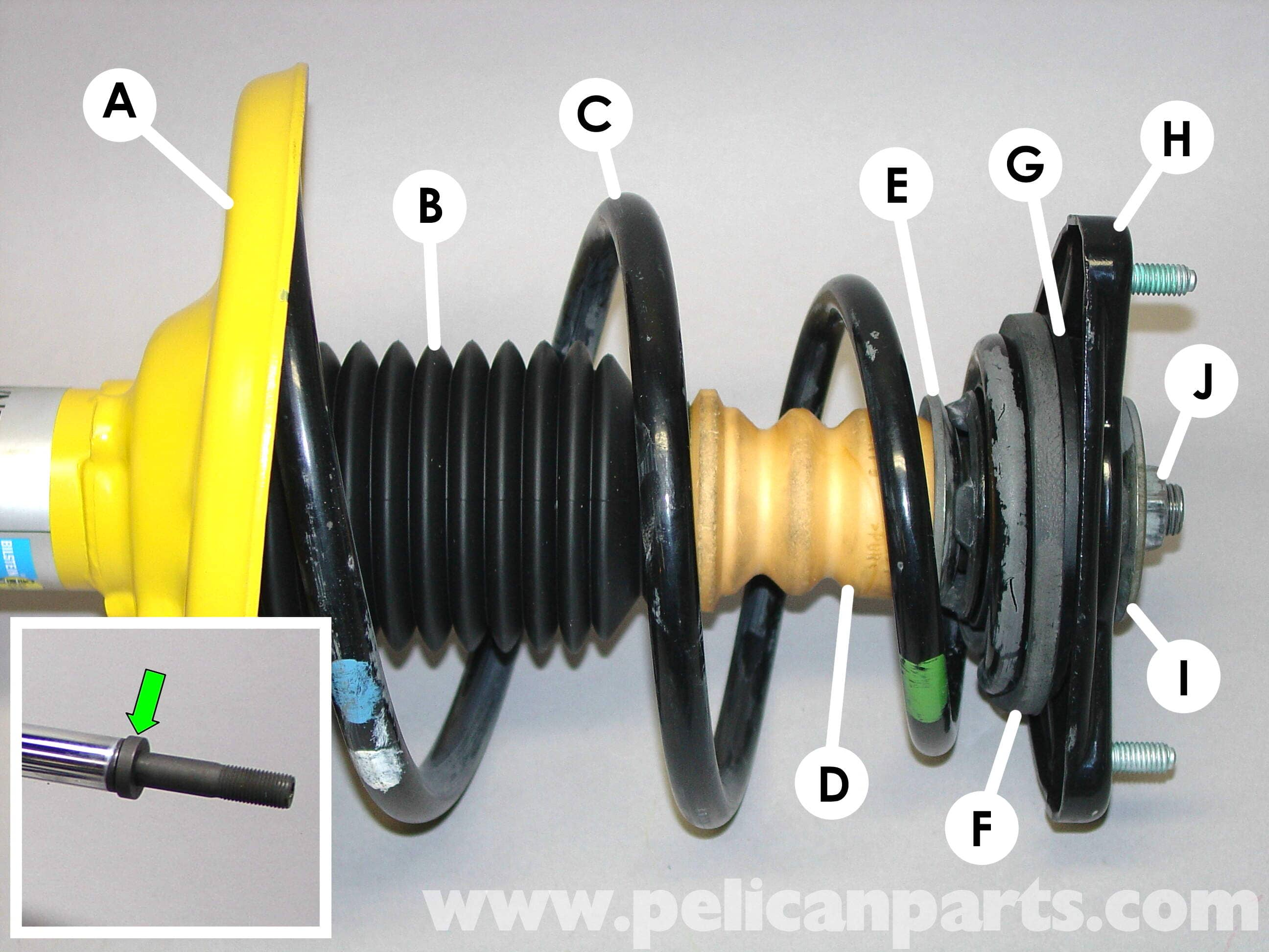 Front shock absorber support: photo, replacement instructions 90