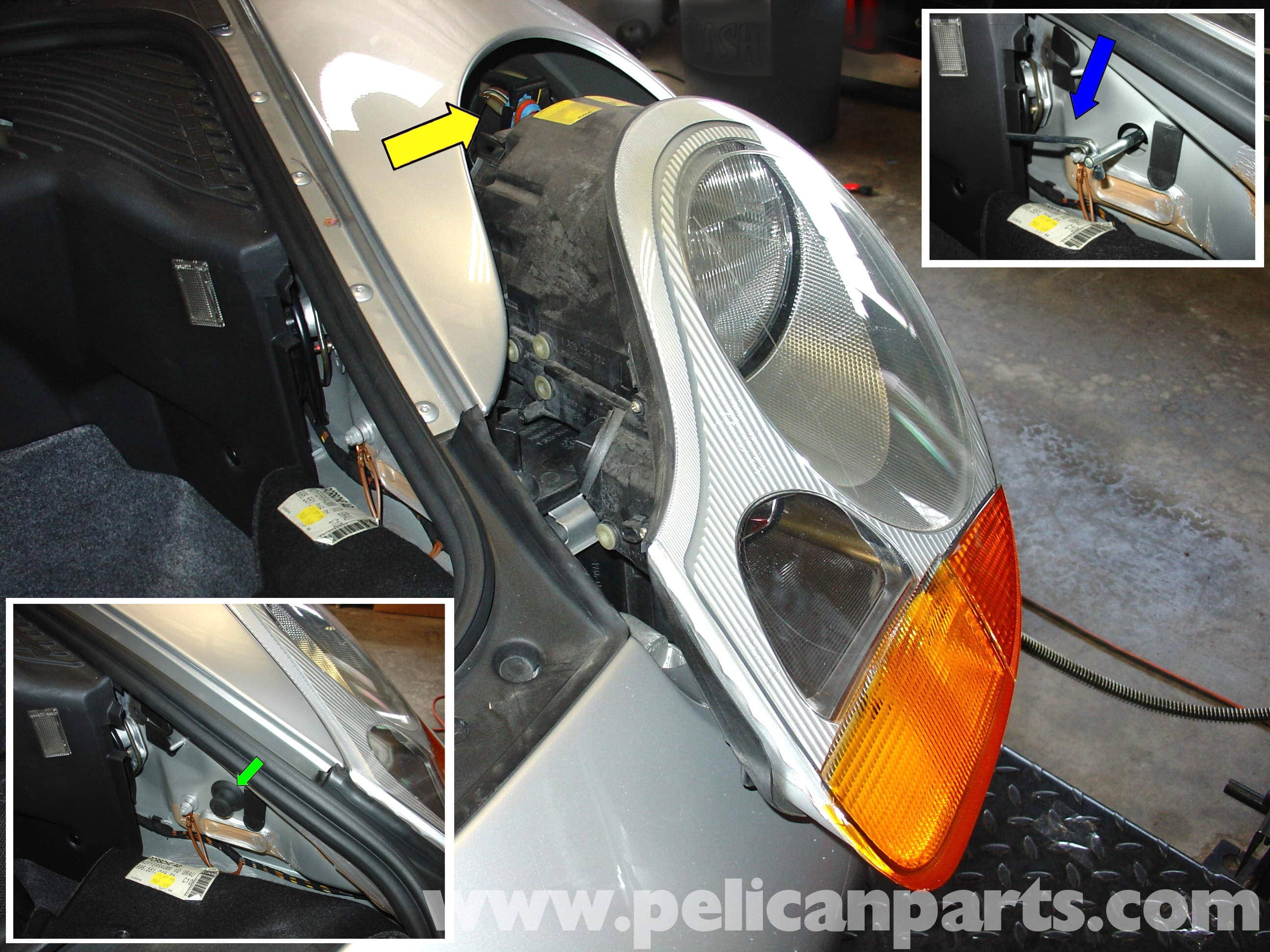 Porsche 911 Carrera Lenses And Bulb Replacement 996 1998 2005 Wiring Diagrams 1999 Headlight Large Image Extra