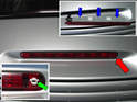 Shown here is the third brake light directly above the rear engine lid.