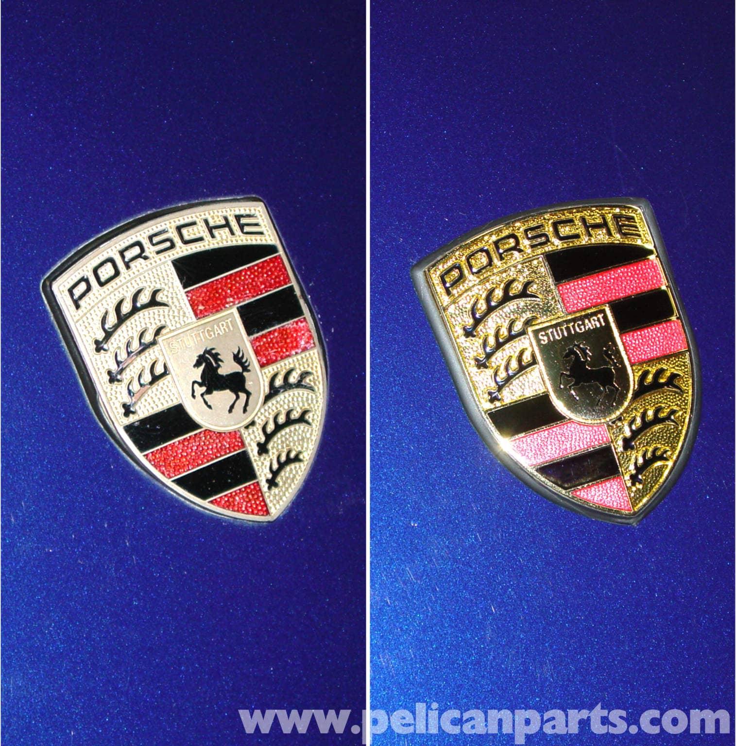 Genuine Porsche 911 924 944 Hood Crest Badge Seal 2 Emblem Retaining Clip Nuts