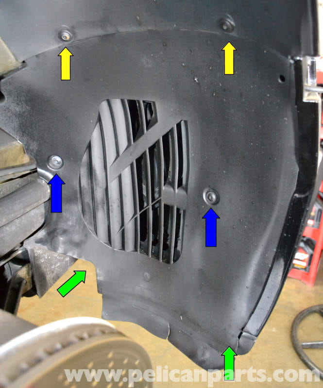 Porsche 996 Automatic Transmission Removal: Porsche 911 Carrera Front Bumper Wheel Liner Replacement