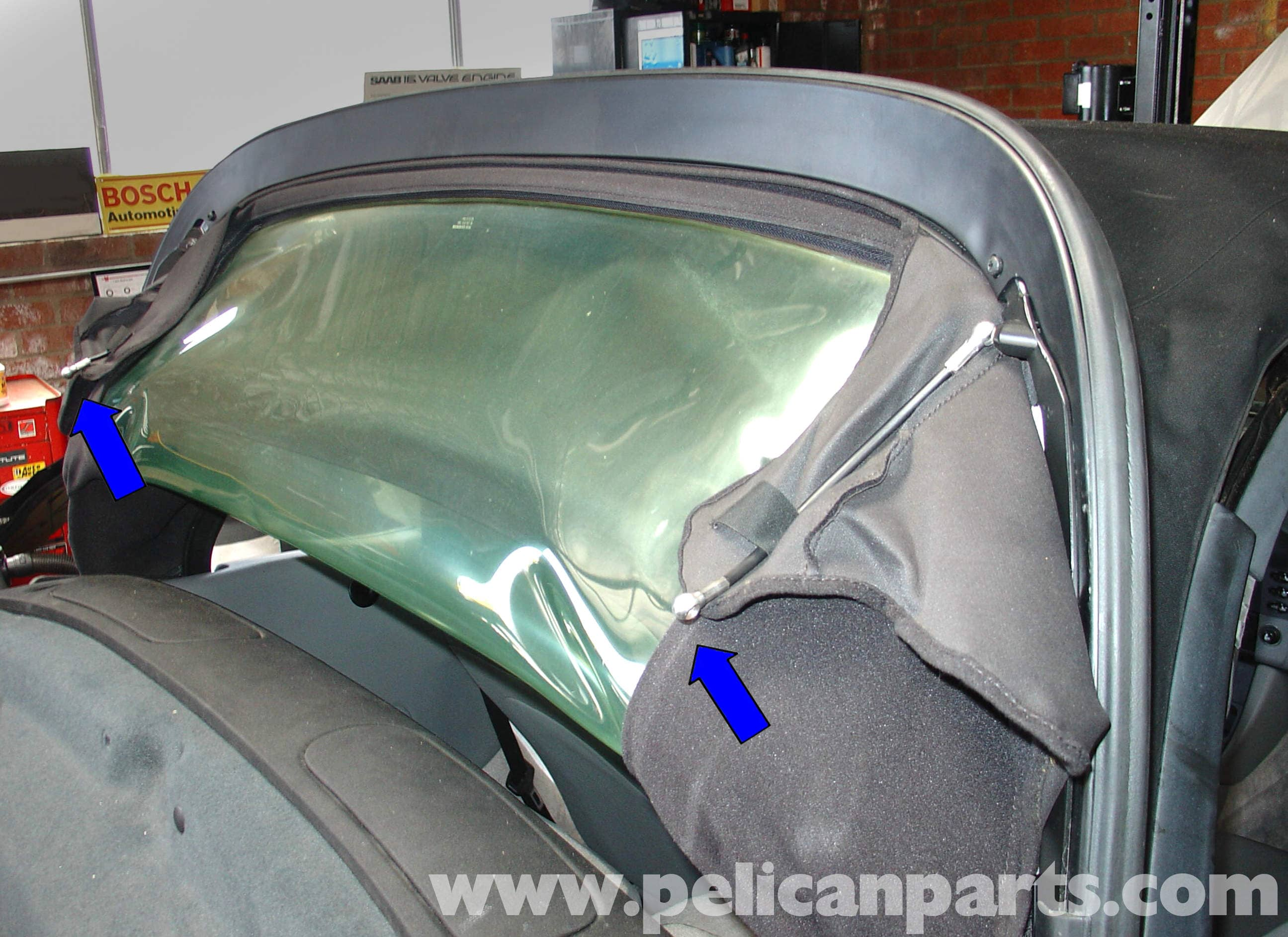 Porsche 911 Carrera Convertible Top Mechanism Repair 996