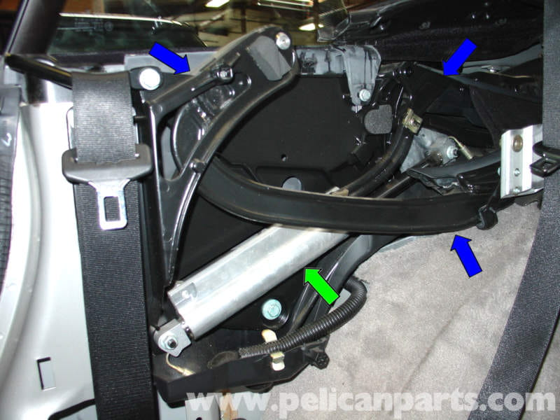 porsche  carrera convertible top mechanism repair