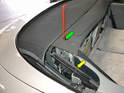 To manually open or close the top, you'll first need to use the tool to open the side flaps on the car (green arrow).