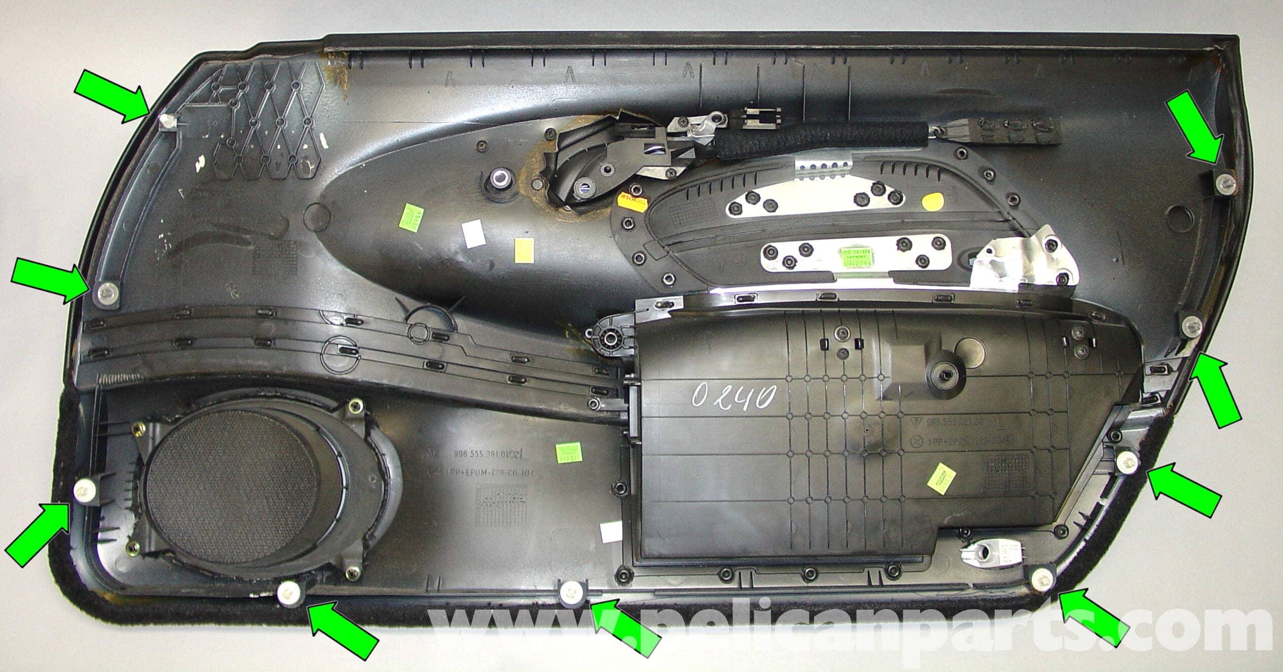 pic03 porsche 911 carrera door panel removal 996 (1998 2005) 997 (2005