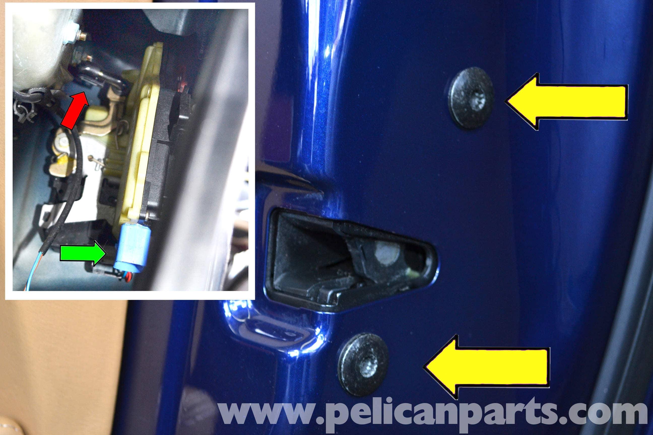 pic07 porsche 911 carrera door locks and handle replacement 996 (1998