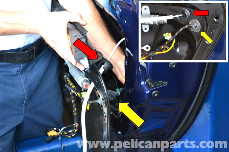 pic06 porsche 911 carrera door locks and handle replacement 996 (1998