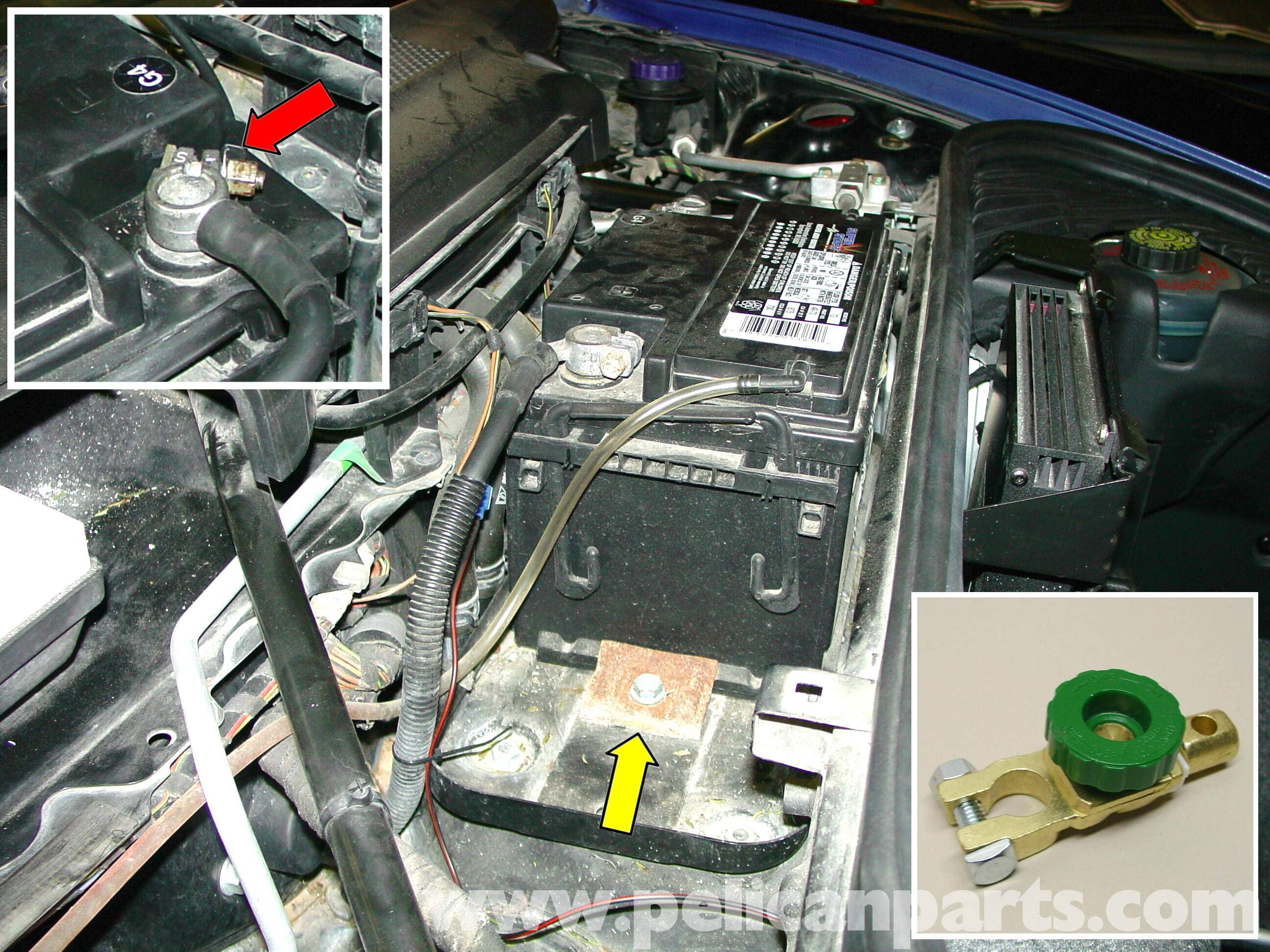 pic04 porsche 911 carrera battery replacement and trickle charger  at fashall.co