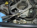 Also on the earlier cars you will need to rotate the throttle body over to access the hose connection on the backside.