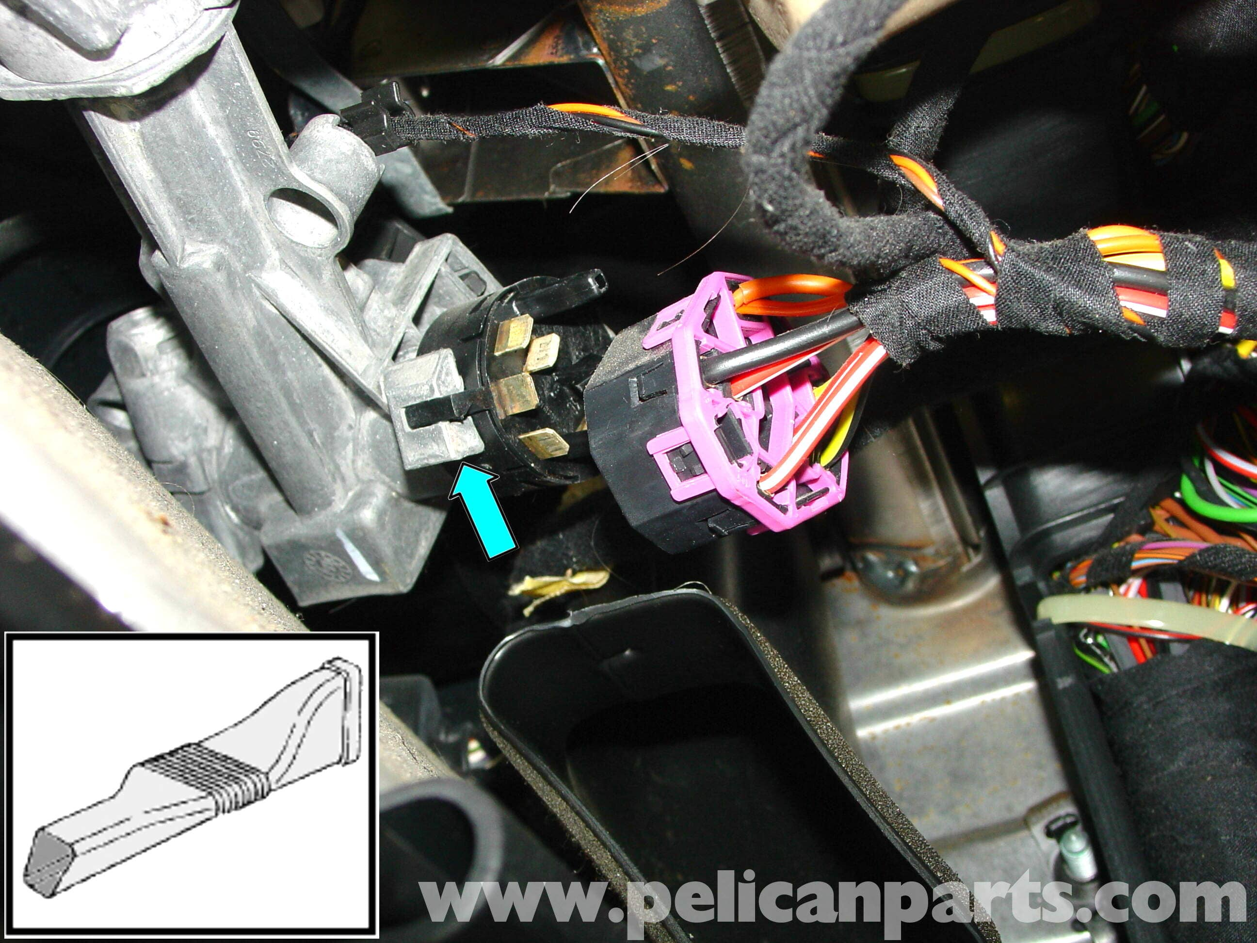 pic01 porsche 911 carrera ignition switch steering lock replacement 996