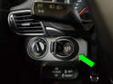 This photo shows the ignition switch for the 997.