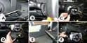 After you have removed the steering wheel, you can then remove the equipment that covers the stalk.