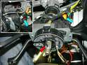 This photo shows the details involved in removing the air bag contact ring.