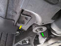 Shown here are the rear jacking points on the Cayenne.