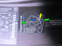 Shown here is the belt routing diagram at the front of the engine compartment.