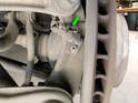 Shown here is the ABS sensor mounted on each rear wheel hub on the Cayenne.
