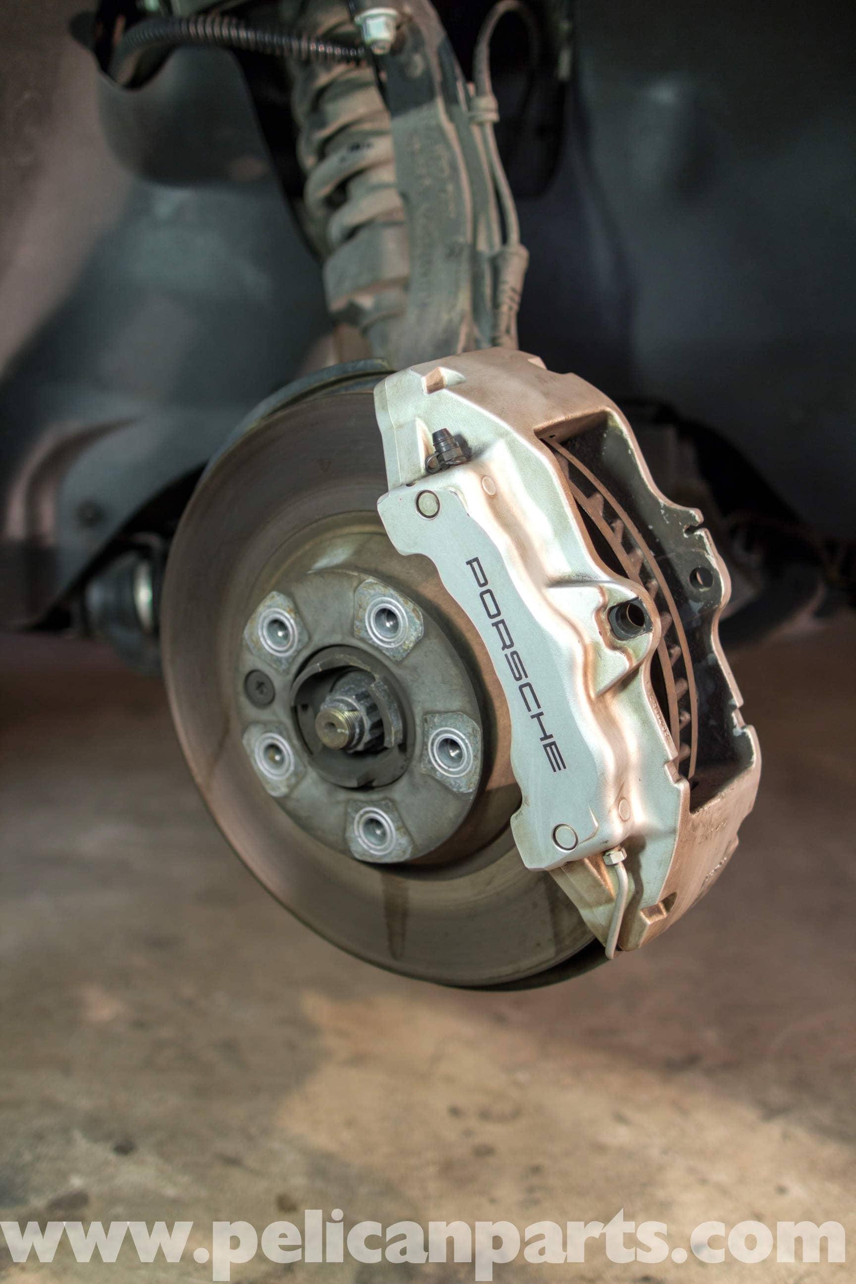 How Long Should Brake Pads Last >> Porsche Cayenne Front Brake Rotor Replacement   2003-2008   Pelican Parts DIY Maintenance Article
