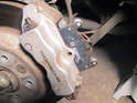 Sometimes, the old brake pads can be stuck in the caliper, preventing them from being removed.