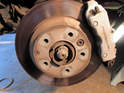 Shown here is the rear brake assembly on your Porsche Cayenne.