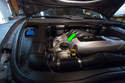Shown here is the oil filler hole for the Cayenne on the right side cylinder head (green arrow).