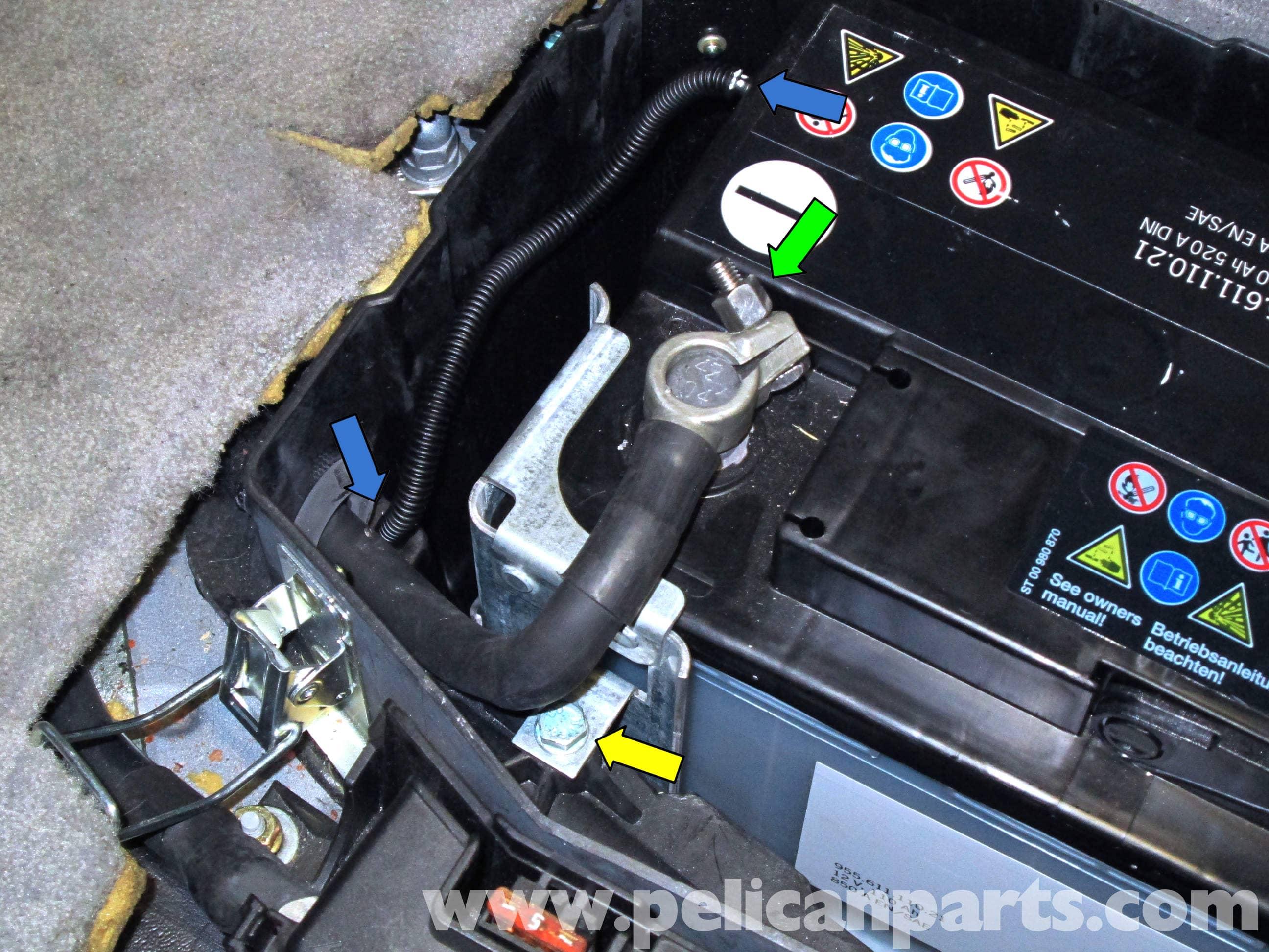 porsche cayenne battery replacement 2003 2008 pelican parts diy rh pelicanparts com 05 Porsche Cayenne Battery Location 2008 Porsche Cayenne S Battery Replacement