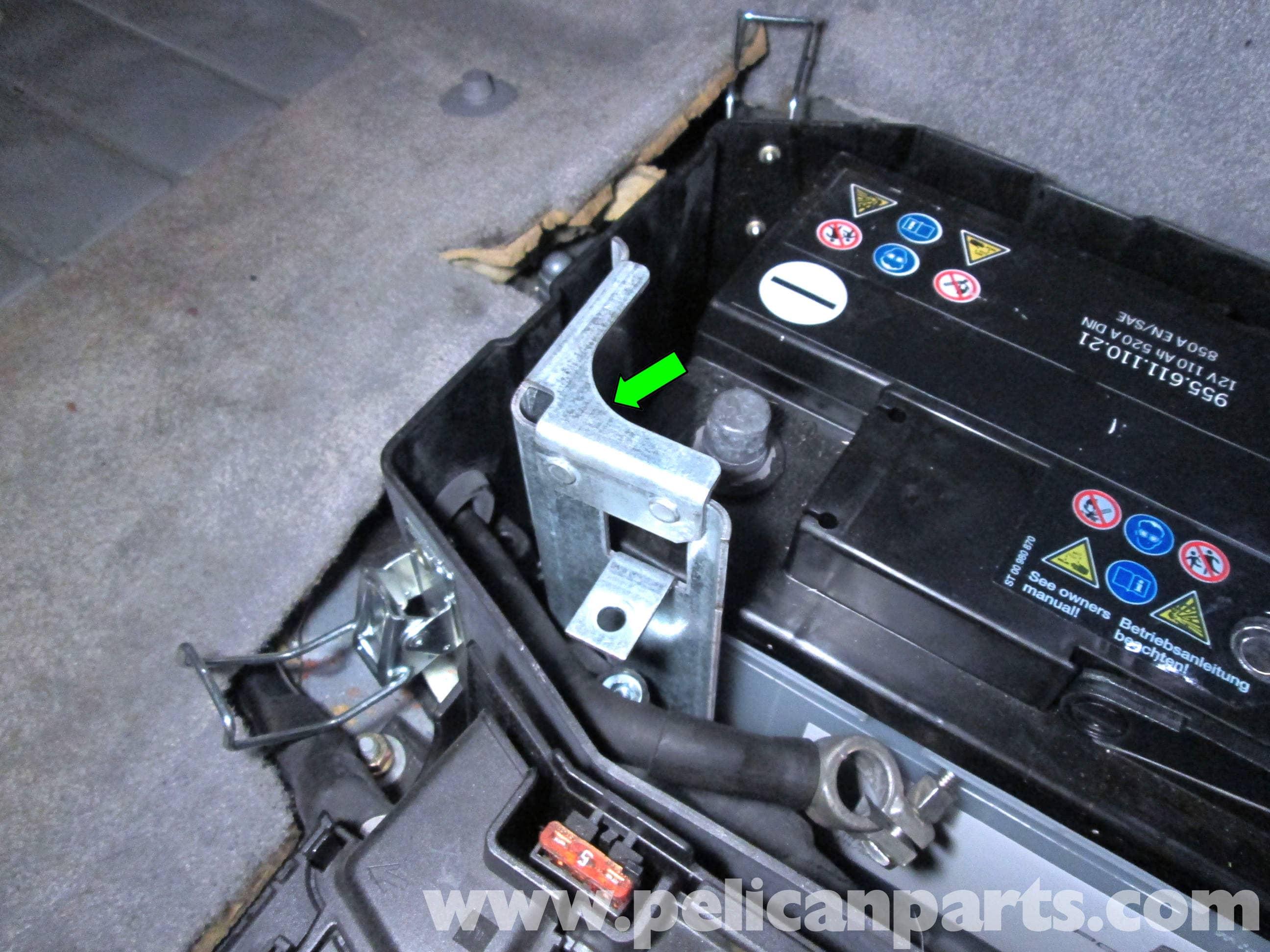 porsche cayenne battery replacement 2003 2008 pelican parts diy rh pelicanparts com 2010 Porsche Cayenne Battery Location 2006 Porsche Cayenne Battery Location