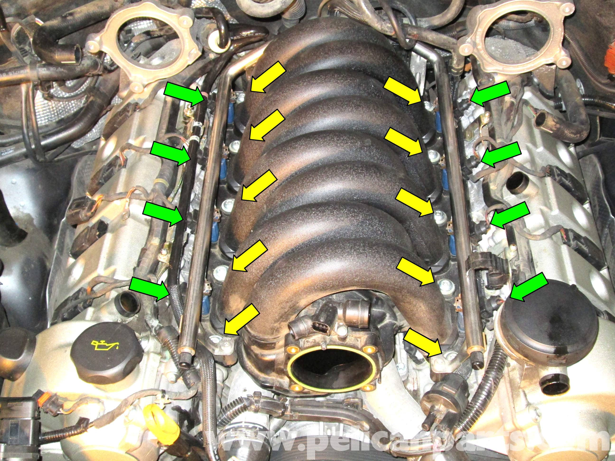 2005 Porsche Cayenne S Engine Diagram Great Installation Of Wiring Honda Civic Charging Intake Manifold Removal 2003 2008 Pelican Parts Rh Pelicanparts Com Ford Mustang Gt