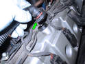 Now remove the air hose connection from the right valve cover.