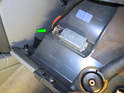 Now remove the electrical connection to the glove box light on the right hand side of the glove box (green arrow).