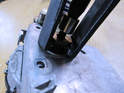 You may need to use the puller to separate the motor shaft from the drive arm as shown here.