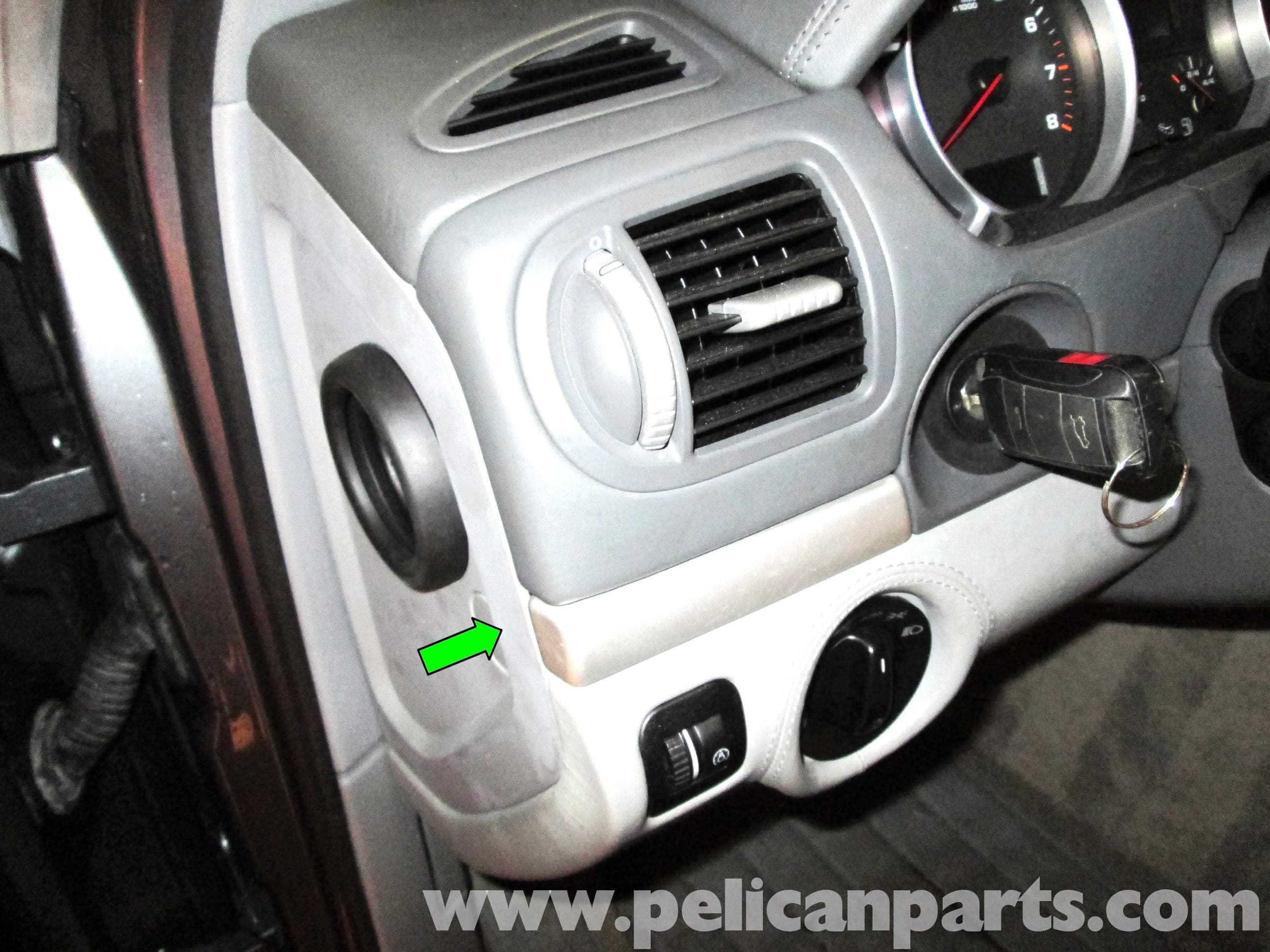pic02 porsche cayenne ignition switch replacement 2003 2008 pelican Dakota Fuse Box at readyjetset.co