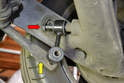 Installing the stock mount is as easy as installing the bolt to the banana arm (red arrow) and lifting the sway bar until the hole in the sway bar lines up with the drop link.