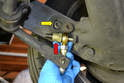 The Tarett adjustable drop link we are using has the ability to be attached to the swing arm or the banana arm.