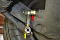 Install the drop link on one side of the sway bar only to start.