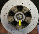 You'll now need to adjust the wheel bearing.