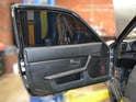 You will need to remove the door panel to change the window regulator.