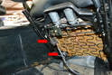 Front Seats: With the bolts removed you can tilt the seat back and disconnect the wiring attached to the seat components.