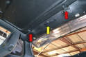 By having access to the cable you can now move the position of the lifting arms (red arrows) so you can remove the sunroof.