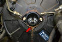 Now is a good time to check the condition of the brake booster.