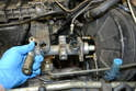 Before removing the booster you will need to remove the master cylinder and reservoir.