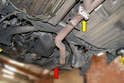 While you can remove the transaxle without pulling the muffler, I find it easier to remove the muffler.