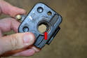 With the latch off you can see the most common problem with old latches.