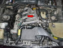 The turbo is located under the intake manifold (red arrow) and there are several other components that will need to come off as well.