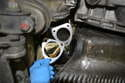 Install the new gasket between the outlet pipe and the exhaust.